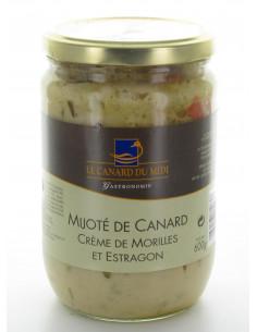 Mijoté de Canard Crème de Morilles et Estragon 600g LeCanDuMidi