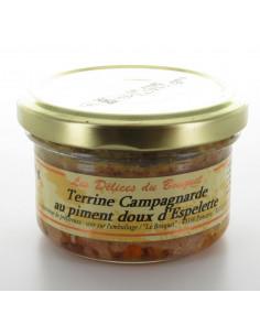Terrine campagnarde aux piment doux d'espelette 80g